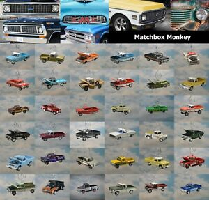 Vintage Pickup Truck Christmas Ornament Square Body Ford Chevy GMC Dodge Adorno