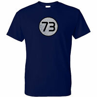 Big Bang Theory Inspired 73 Distressed Mens T Shirt Sheldon Cooper Insane Tested