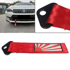 Universal Traction Belt Japanese Rising Sun Pattern Decal Tow Strap Towing Hook