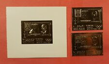 IMPERF + PERF RAS AL KHAIMA JFK SPACE GOLD FOIL STAMPS + S/S MINT NEVER HINGED