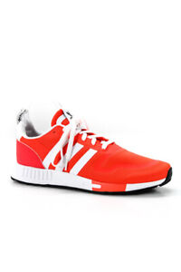 Adidas Mens Nylon Mesh Running Sneakers Red White Size 10.5