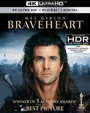 Braveheart, Blu Ray Movie, 4K Ultra Hd Disc, Mel Gibson, Sophie Marceau, 2018