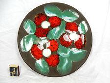 """Abstract 70´s """"Flower Power"""" design Ruscha Keramik wall plate Wandteller  717/3"""