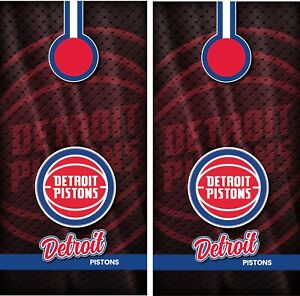 Detroit Pistons Cornhole Wrap Skin Decals NBA Sports Vinyl Decal CCW110