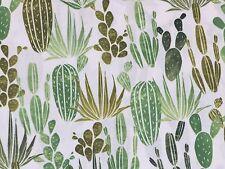 RPFHM50 Succulent Cactus Cacti Desert Garden Desert Dawn Cotton Quilt Fabric