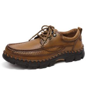 Men's Retro Casual Shoes Outdoor Hiking Climbing Trekking Soft Sneakers 38-45 L