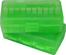 MTM P504416 Ammo Box 50 Round Flip-Top 41 44 45 Lc Clear Green