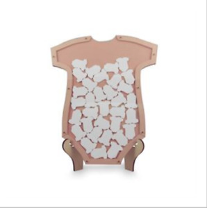 Baby Shower Guest Book - Wishing Well Message Drop Box - 40 Message Cards - Pink