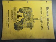 Minneapolis Moline U Universal, Standard, Cane 6 Volt Repair Catalog