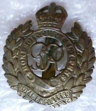 Badge- WW2 Royal Engineers Corps Cap Badge KC GVI (BRASS, Org*)