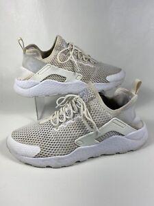 Nike Air Huarache Run Ultra Pure White Platnium 833292-100 Size 10 Women's