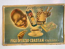 Tabella Insegna Pubblicità FIGLI DI LUZIO CRASTAN Pontedera - Vintage - '50/'60