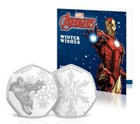 Iron Man Coin Marvel Avengers Iron Man 50p Shaped Coin In Display Card New