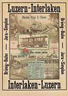 AK - Plakat  - Lucerne - Brünig Bahn - Jura - Simplon - Luzern Interlaken 1890