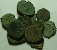Lot 3 Rare original Islamic copper Bronze Mangir coins/Arabic/Ottoman Empire 15c