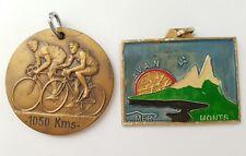 Lot 2 médailles cyclistes. (AV023)