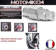 Outil multi clé hexagonale mâle pour moto male axe de roue fourche 17-19-22-24mm