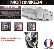 Tool multi key hex male motorcycle male axis wheel fork 17-19-22-24mm