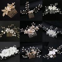 Bride Hair Jewelry Wedding Bridal Clips Leaves Tiara Hair Combs Flower Hair Pin