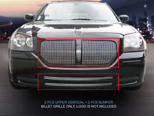 Fedar Billet Grille Combo For 05-07 Dodge Magnum Except SRT8 (Vertical)-Polished