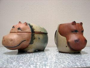 Vintage Japan UCCTI / UCTCI Hippo Pottery Stoneware Set