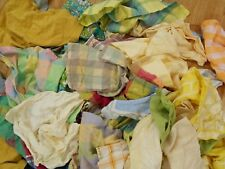 PERFECT Huge LOT of 43 PASTEL YELLOW TEAL PLAID Mixed COTTON Dinner Napkins