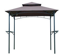 8Ft 2-tier BBQ Grill Canopy Tent Barbecue Outdoor Shelter Gazebo Yard Sun Shade