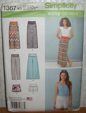 Womens/Misses Skirts Shorts & Pants Sewing Pattern/Simplicity 1367/SZ 8-16/UCN