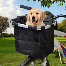 Folding Bicycle Basket Small Pet Cat Dog Carrier Bike Detachable Handlebar Bag
