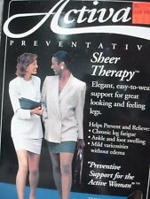 ACTIVA H2361 SHEER THERAPY CLOSED TOE KNEE HIGHS 15-20 MMHG Black Size: A