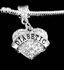 Diabetic charm  only medical charm fits European bracelet or necklace jewelry