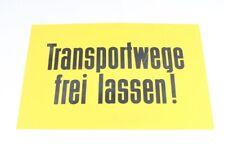 Rótulo Indicador Plástico Placa Transportwege Libre Dejar Amarillo