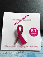 Breast cancer pink ribbon stud pin badge 100% profit for charity...