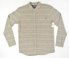 O'Neill HODGES Mens Button Front Long Sleeve Shirt Size Medium Stone NEW
