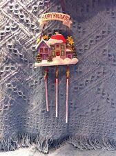 NOS AVON HAPPY HOLIDAYS VICTORIAN HOUSE CHRISTMAS WIND CHIME