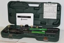 New listing Greenlee Model Hkl1232 12-Ton Manual Hydraulic Crimping Tool w/ 6 Dies