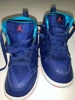 Kid's Nike Jordan Retro 1 Hi TD Infrared(Infant/Toddler) Blue Lagoon /Orange 8C