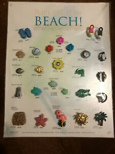 """JHB's Buttons """"fun at the Beach!"""" - Vintage Salesman Sample Button Card"""