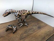 "Radio Shack Gold WowWee Roboraptor Dinosaur 32"" Long Remote Control Dino Robot A"