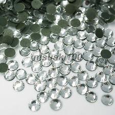 Hot Fix Diamante Glass Rhinestone Gem Diamond DMC Quality Flat Back Iron on Glue Clear 5mm 1440