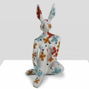 GILLIE AND MARC. Direct from the artists. Mini Splash Pop Rabbit Resin White