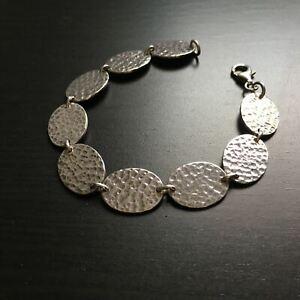 'Sol' Disc Sterling Silver Link Bracelet