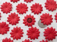 "100 Flor de papel de morera! hecho A Mano Rojo-Flor de Pétalo Daisy - 2.5CM/1"""