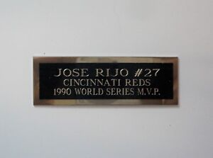 "Jose Rijo Baseball Card Plaque or Baseball Ball Cube Nameplate 1"" X 3"""