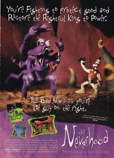 Vintage NEVERHOOD Klaymen Dreamworks video game magazine print ad page
