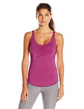 prAna Women's XL Dreaming Top Pink with Black Plum Stripe Tank