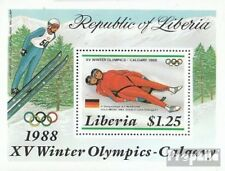 Liberia block112 unmounted mint / never hinged 1987 Olympics Winter Games ´88