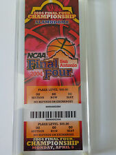2004 NCAA Mens Final Four Replica Ticket. held in San Antonio