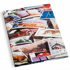 Lighthouse A4 Stockbook STAMPS Cover 32 Black Pages
