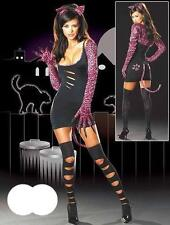 New Female Sexy Catwoman Kitty Cat Woman Halloween Costume Cosplay Fancy Dress